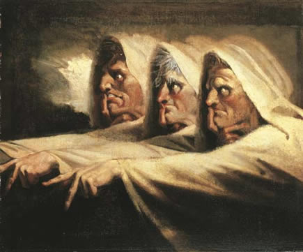 Fuseli painting of three witches