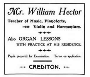 newspaper advert for hector jnr music teacher