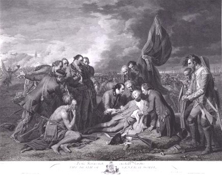 Death of General Wolfe engraving