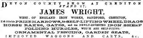 Wright advert