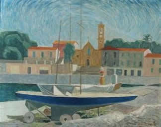 Painting of cap ferrat