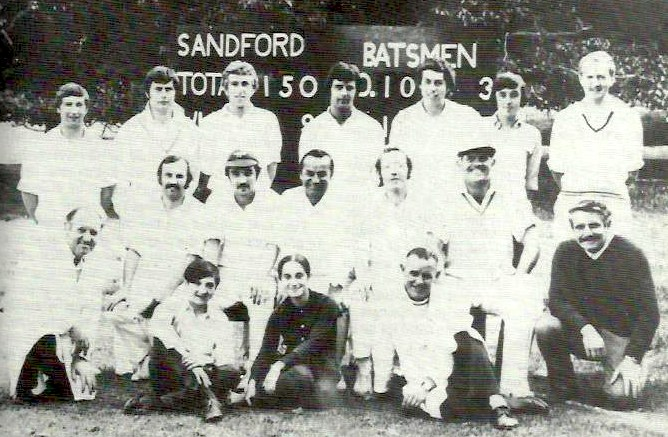 Sandford 1970s cricket team