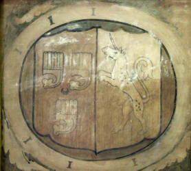 ancient painting of coat of arms