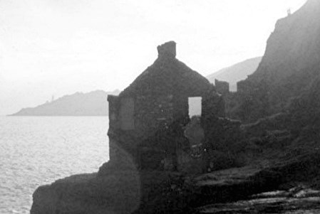 Hallsands in ruins