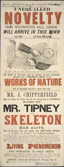 earely poster for James with Tipney advertised