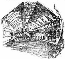 newspaper drawing of Exeter tepid baths