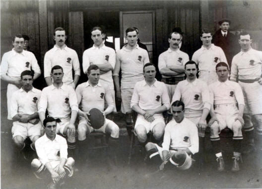 England against Ireland team picture